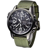 SEIKO SOLAR CHRONOGRAPH COMPASS GREEN NYLON WATCH SSC137P1