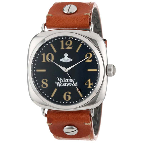 VIVIENNE WESTWOOD BROWN LEATHER WATCH VV061SLBR