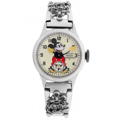 INGERSOLL x DISNEY MICKEY 30's HAND WINDER STAINLESS STEEL WATCH ZR25832