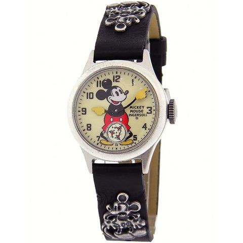 INGERSOLL x DISNEY MICKEY 30's HAND WINDER LEATHER WATCH ZR25833