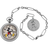 INGERSOLL x DISNEY MICKEY 30's SILVER MECHANICAL POCKET WATCH ZR25834