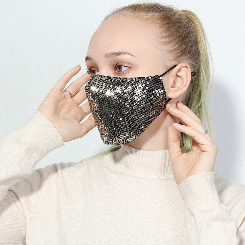 Sequin Washable Face Mask