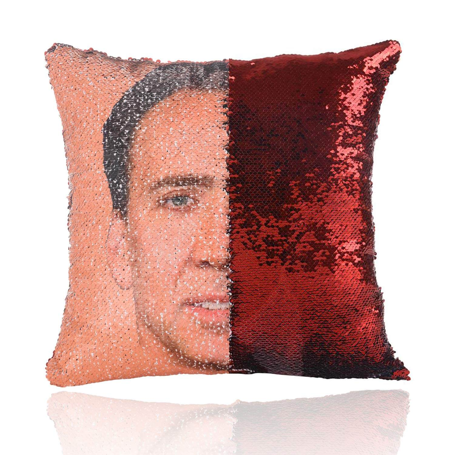 Custom Face Flip Sequin Pillow