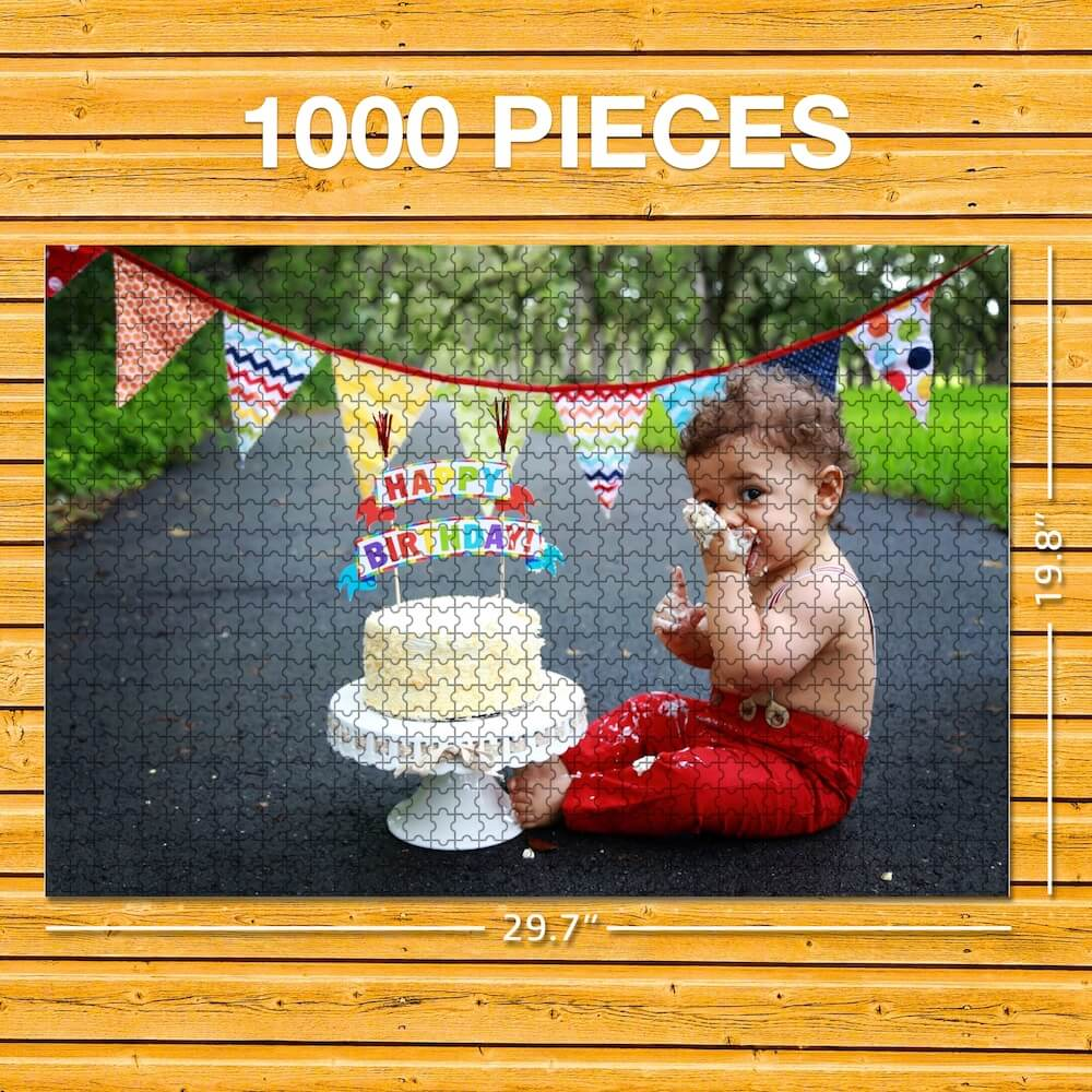 63-1000 Piece Personalized Photo Jigsaw Puzzle