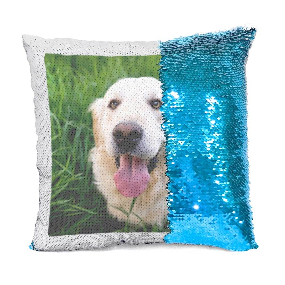 Custom Dog Flip Sequin Pillow