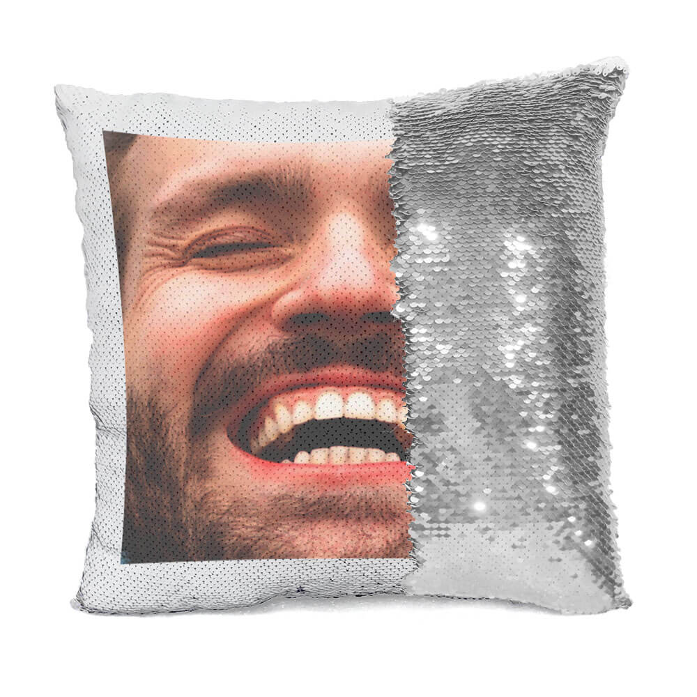 Custom Crazy Face Flip Sequin Pillow