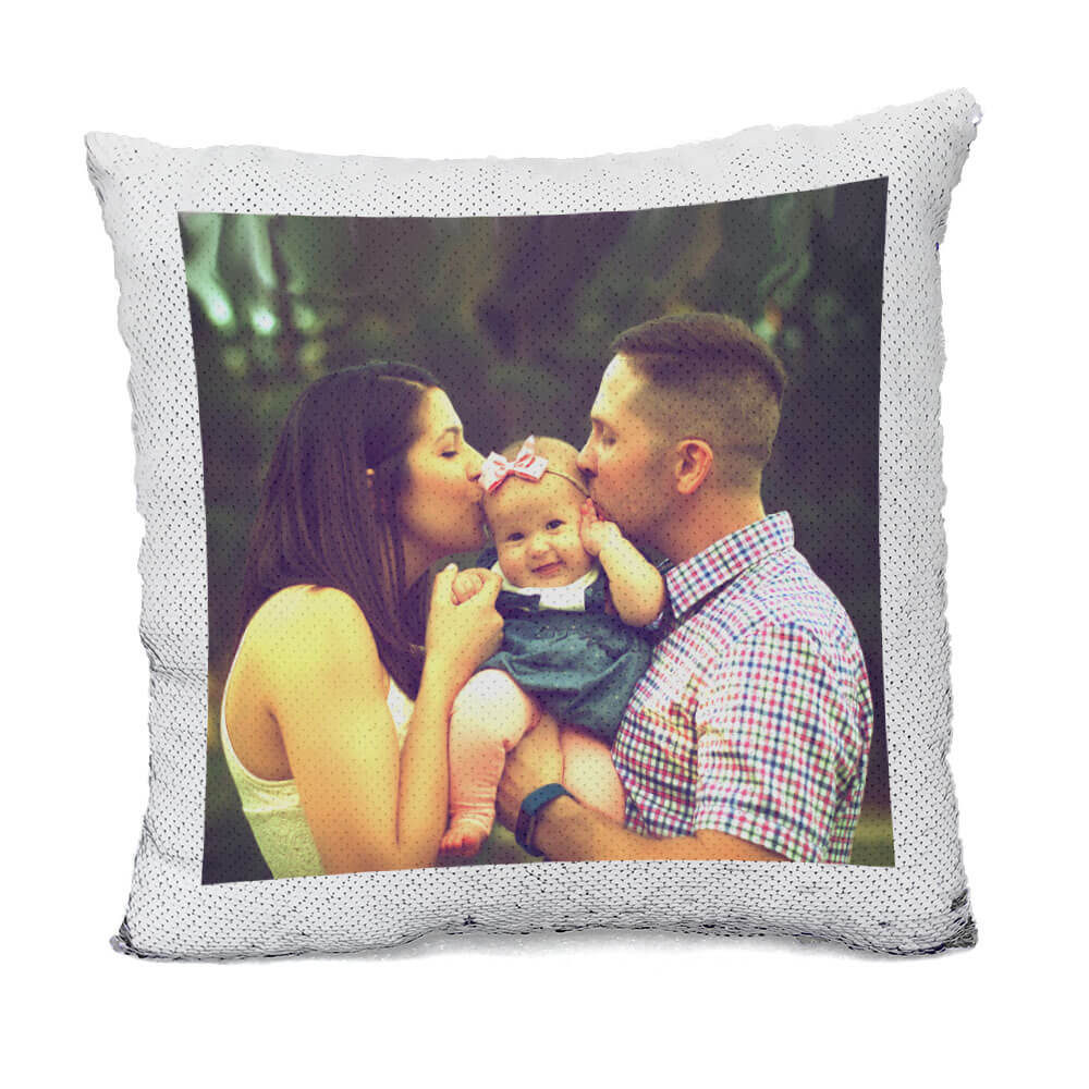 Custom Family Flip Sequin Pillow