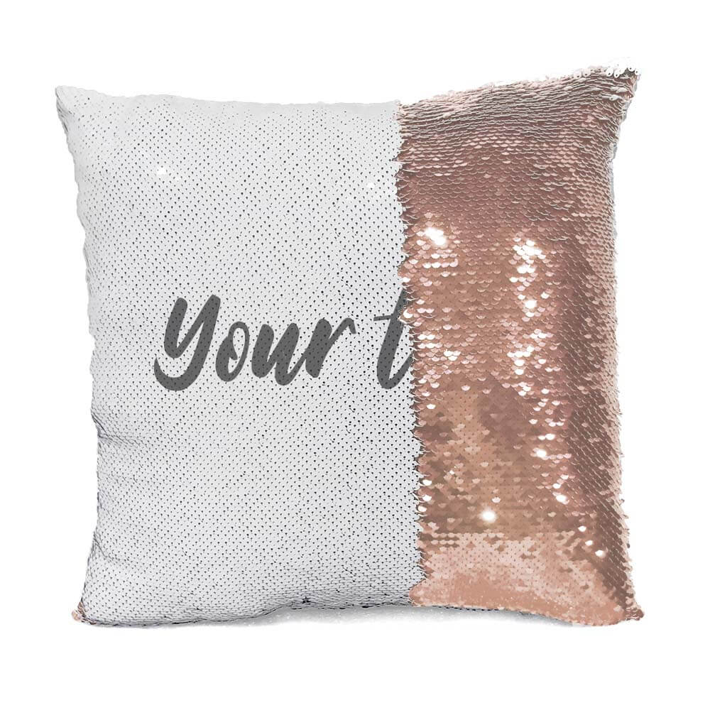 Custom Text Flip Sequin Pillow