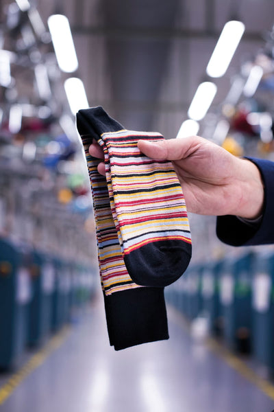 Signature Stripe Socks - MADE IN ENGLAND