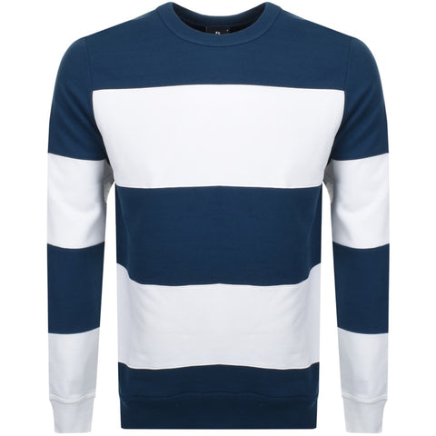 Paul Smith Sweater Cotton Stripes | White / Petrol