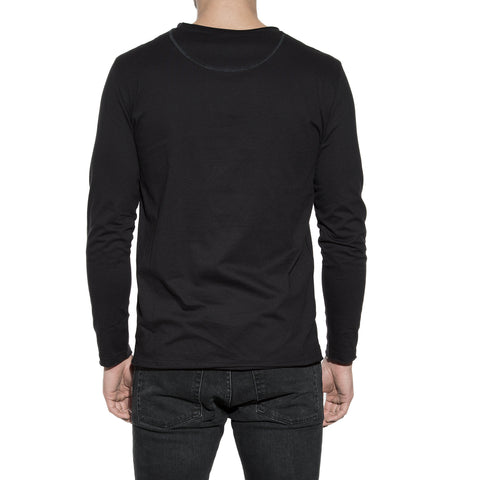 Bread & Boxers Relaxed Men's Underwear Long Sleeve | BLACK
