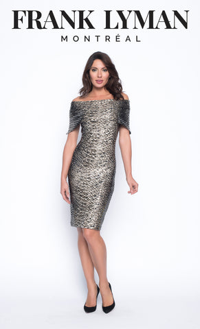 Frank Lyman Dress | Beige / Black