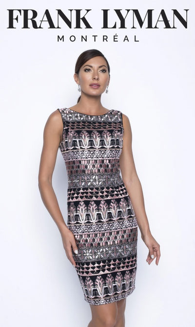Frank Lyman Dress | Black / Blush
