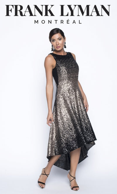 Frank Lyman Dress Maxi | Champagne / Black
