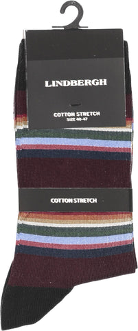 Lindbergh Socks Stripes | Bordeaux