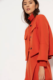 Luisa Cerano Double Jacket Cropped | Orange