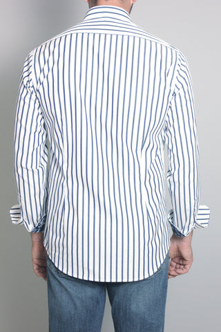 Paul & Shark Shirt with Stripes Shark Fit | Navy / White