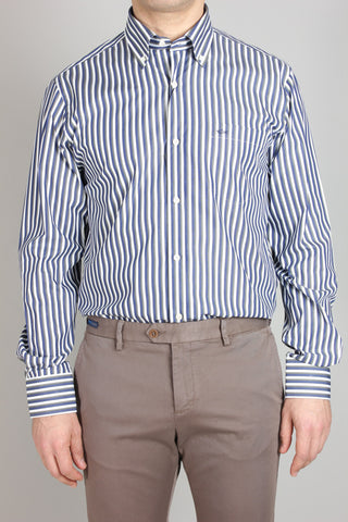 Paul & Shark Shirt Stripes Regular Fit | Blue/White/Olive