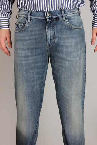 Paul & Shark Denim Regular Fit Red Rivet | Light Blue