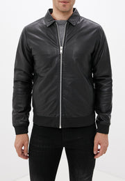 Lindbergh Casual Leather Jacket | Black