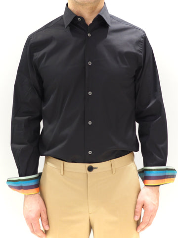 Paul Smith Shirt Stretch | Black