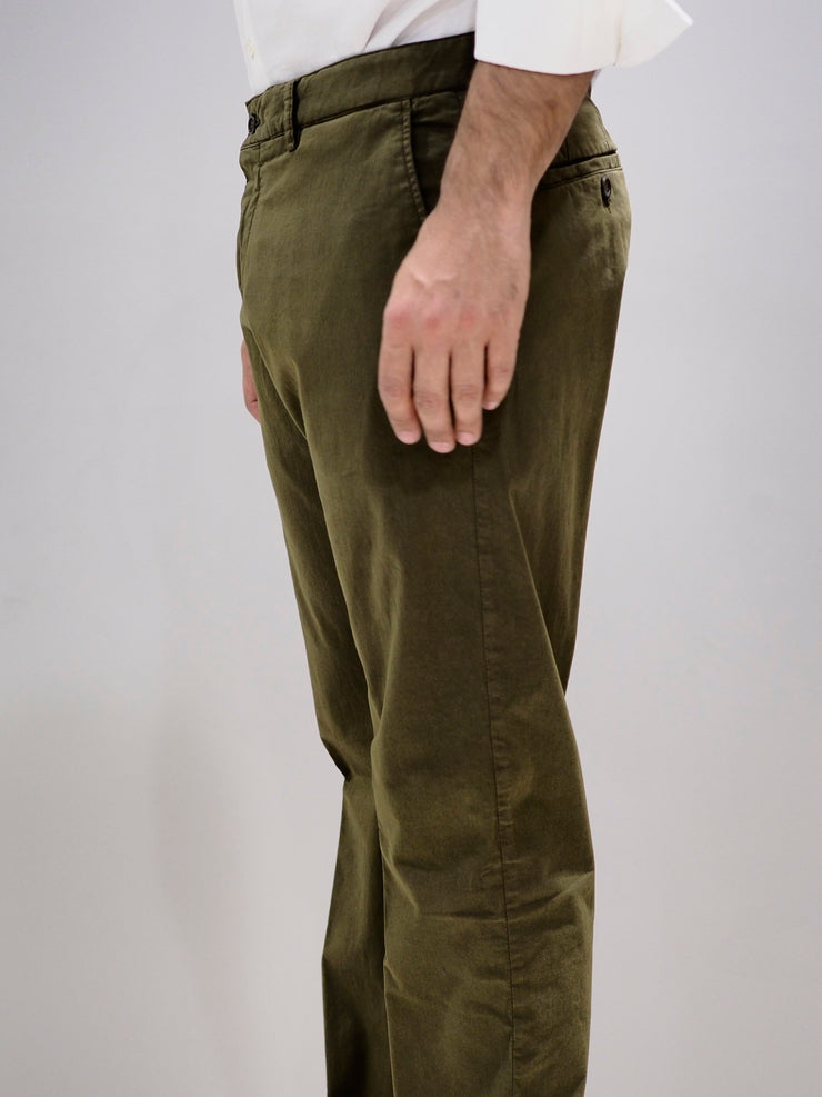 Paul & Shark Trousers Regular Fit Chino | Military Green
