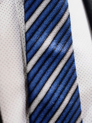 Lanvin Tie Silk | Blue / Grey