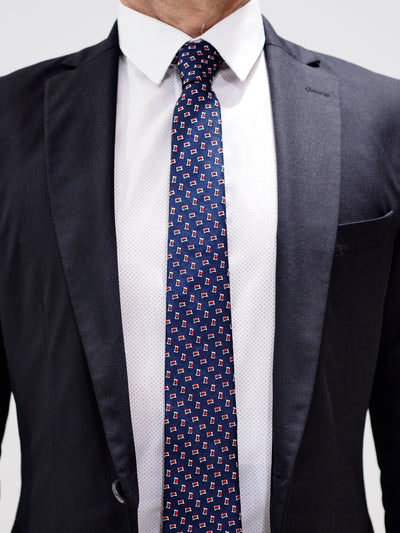 Lanvin Tie Silk | Navy / Red