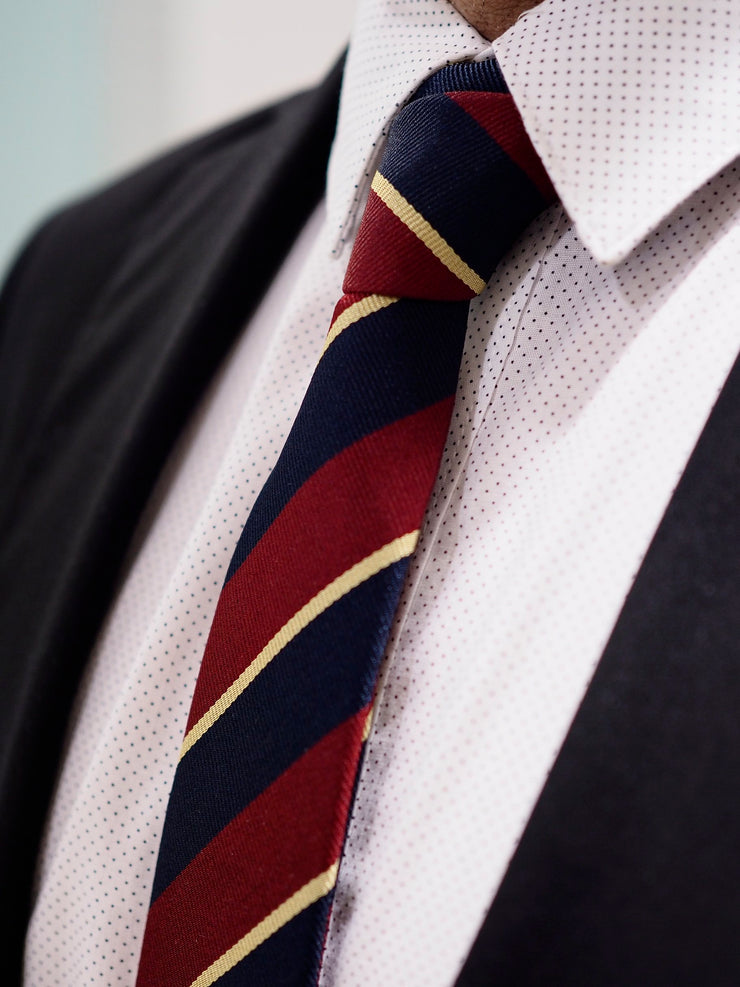 Lanvin Tie Silk | Red / Navy