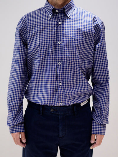 Paul & Shark Shirt Checked Regular fit | Blue