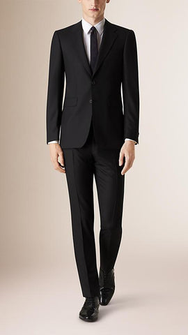Burberry Men's Suit Burberry Suit Modern Fit Wool Part - Canvas | BLACK