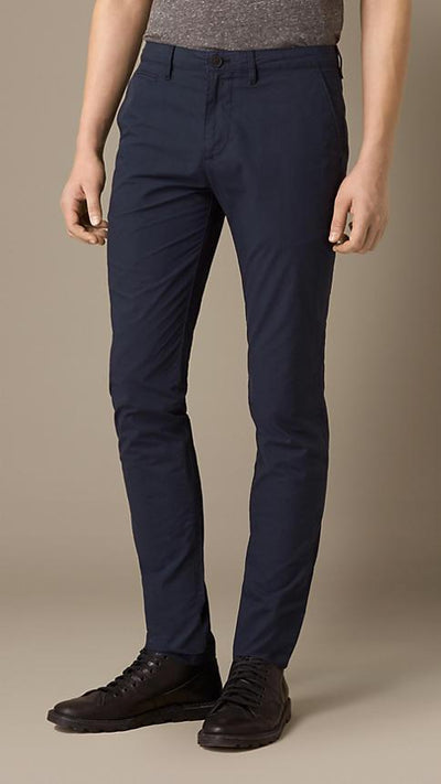Burberry Men's Trousers Burberry Trousers Slim Fit Cotton Poplin Chinos | INDIGO