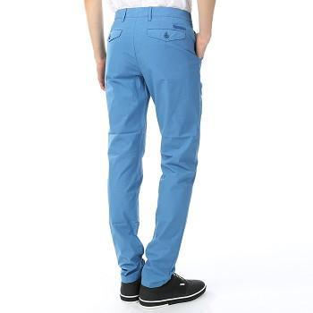 Burberry Men's Trousers Burberry Trousers Slim Fit Cotton Poplin Chinos | LUPIN BLUE