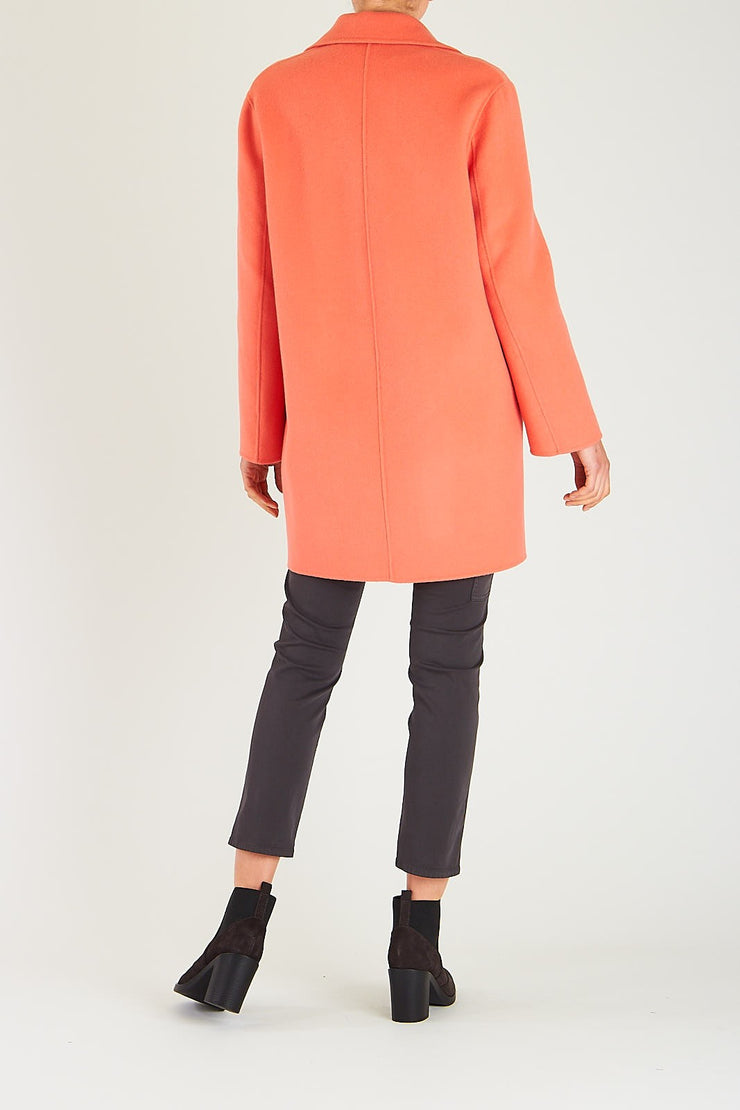 Luisa Cerano Coat Double-Face Wool And Cashmere  | Coral