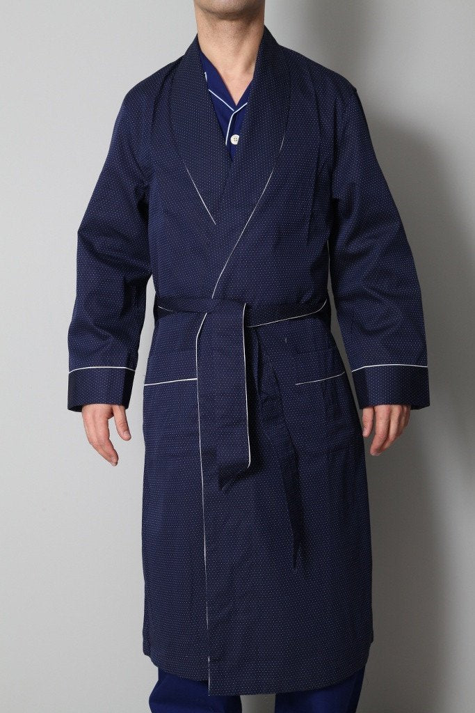 Derek Rose Men's Dressing Gowns Derek Rose Dressing Gown | DARK BLUE