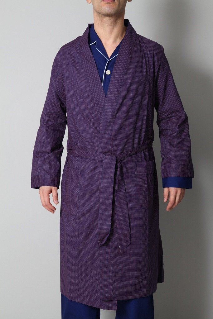Derek Rose Men's Dressing Gowns Derek Rose Dressing Gown | PURPLE