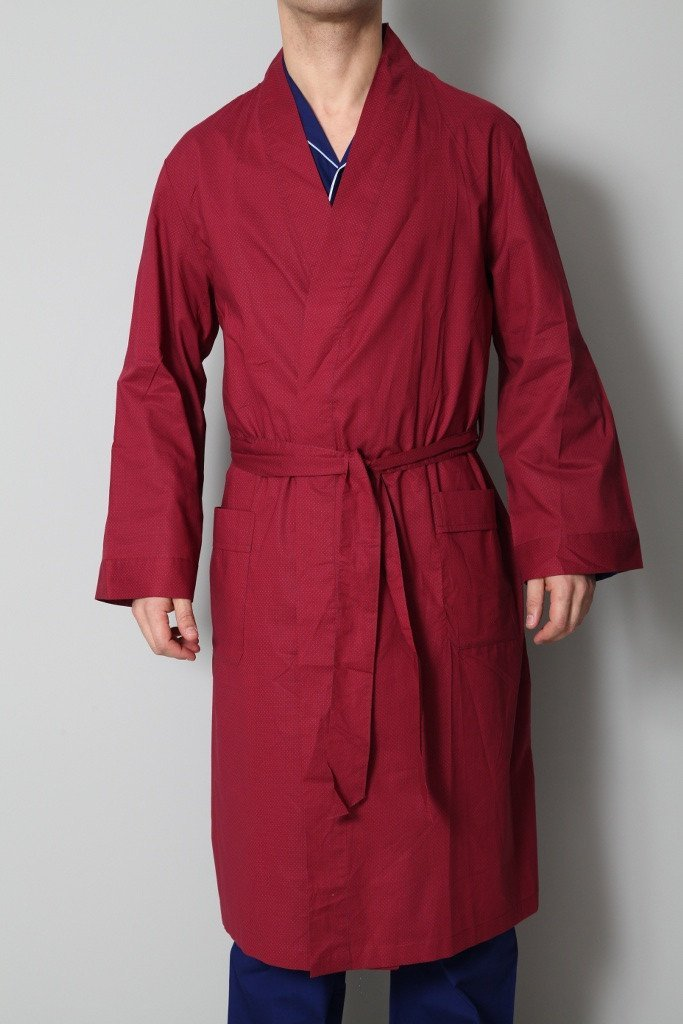 Derek Rose Men's Dressing Gowns Derek Rose Dressing Gown | RED