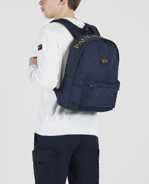 Paul & Shark Backpack With 3D Paul and Shark Embroidery | Navy