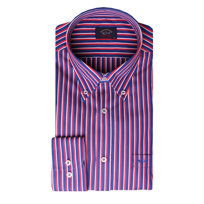 Paul & Shark Shirt Stripes Regular Fit | Red / Navy
