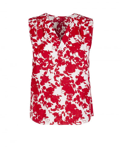 Anonyme Top Kyoto Print Cotton | Red