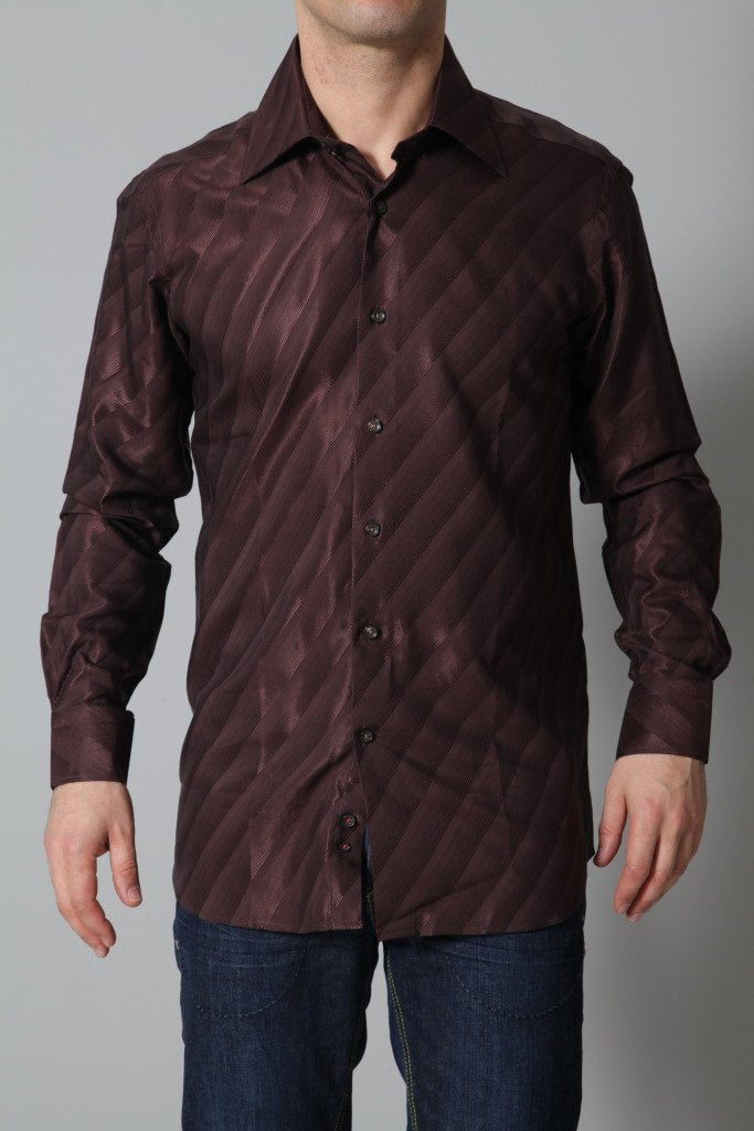 Lagerfeld Men's Shirt Lagerfeld Shirt | BROWN
