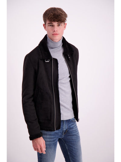 Lindbergh Casual Jacket Suede look | Black