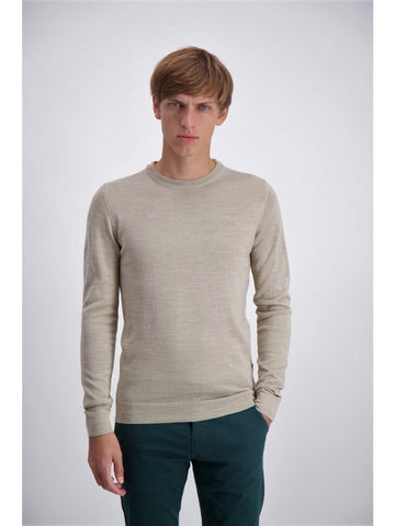 Lindbergh Sweater Roundneck | Dark Sand