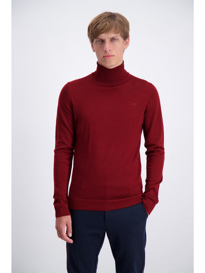 Lindbergh Sweater Roll neck | Dark Red