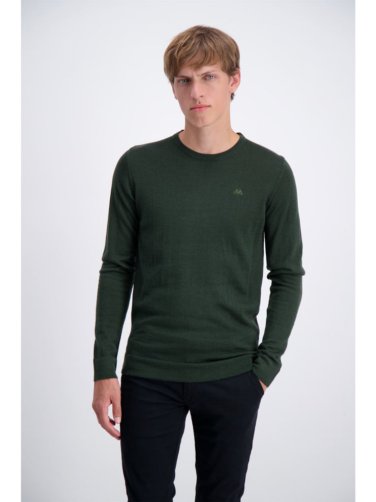 Lindbergh Sweater Roundneck | Bottle Green