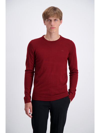 Lindbergh Sweater Roundneck | Dark Red