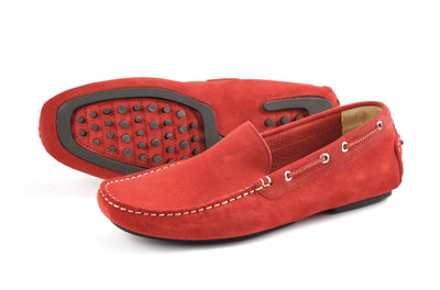 Loake Men's Shoes Loake Shoes Donington Suede | RED