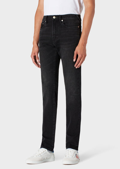 Paul Smith Jeans Men's Slim-Standard Mid-Wash 'Black Stretch'  | Black