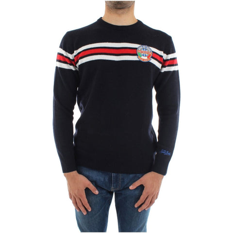 MC2 Sweater Cashmere with Patch | Navy