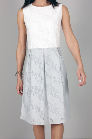 Paul Smith Dress Anonyme Dress | White / Grey